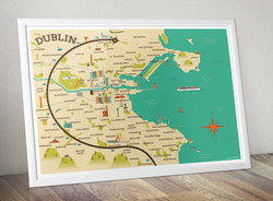 Dublin map illustration