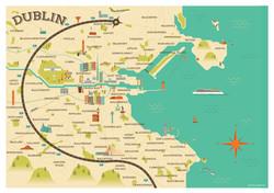 Dublin map illustration