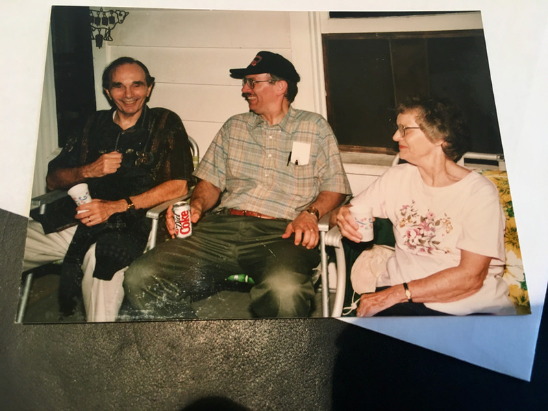 Kim Solez with his parents in 1997
