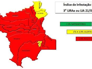 80% dos municípios de Roraima encontram-se em alto risco de transmissão da Dengue