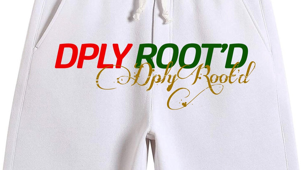 """dplyROOT'D """"Gucci Inspired"""" Shorts WHITE"""