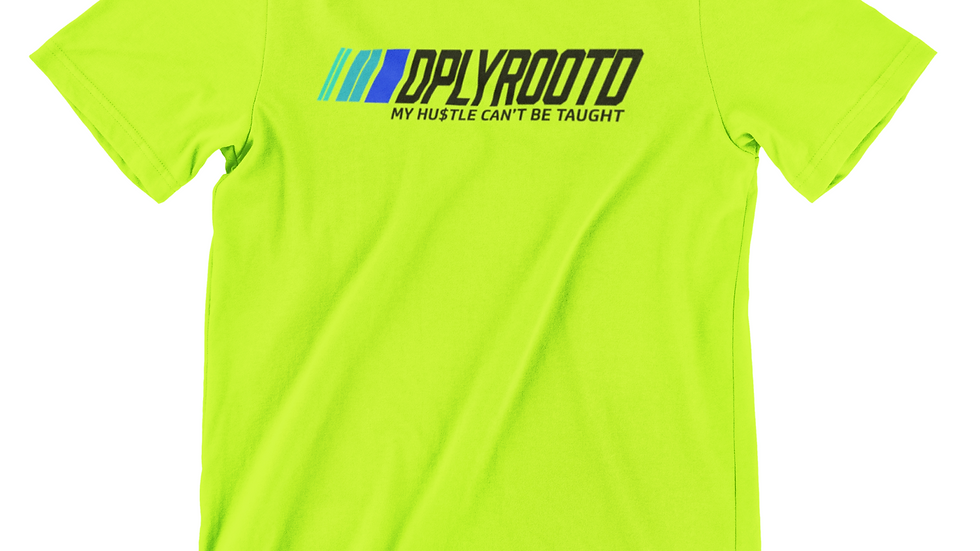 DPLY ROOT'D Motorsport Tshirt SafetyGreen