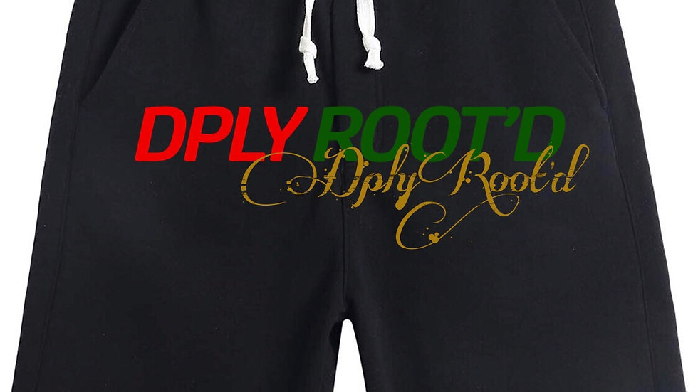 "dplyROOT'D ""Gucci Inspired"" Shorts BLACK"