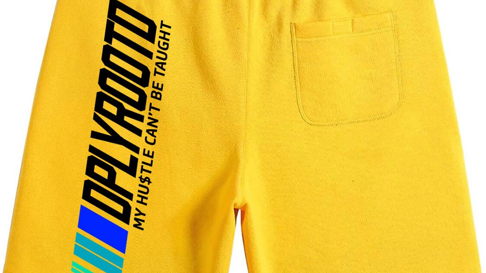 DPLY ROOT'D Motorsport Shorts Yellow