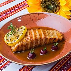 Сёмга жареная в лимонном соусе
