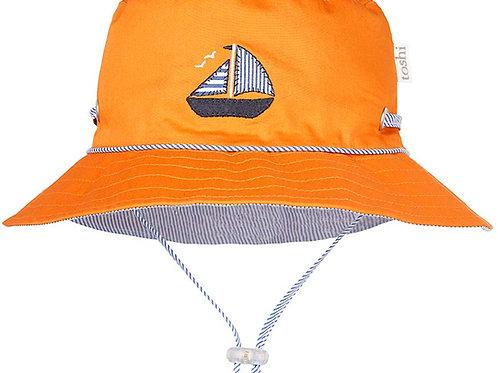 Toshi nautical giner boys sun hat wide brim
