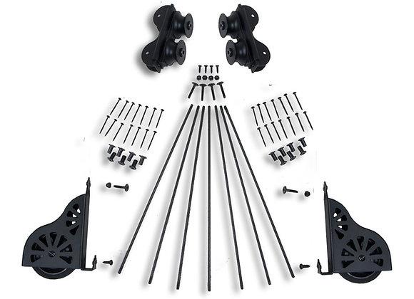Rolling ladder hardware kit