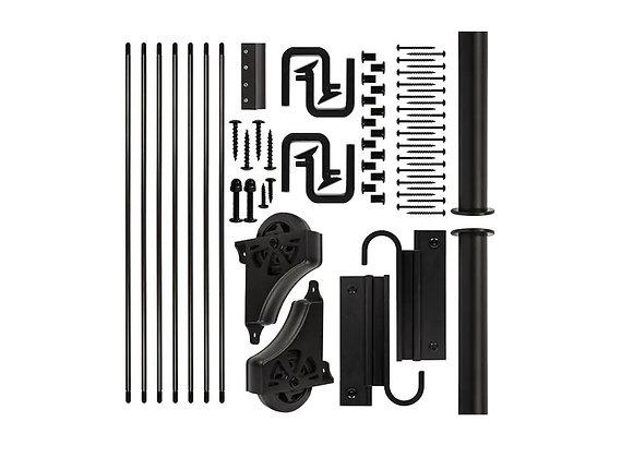 E-Glide Ladder Hardware Kit Black (ladder not included)