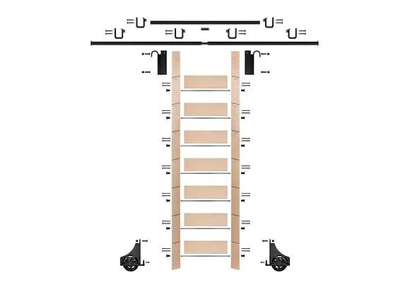 E-Glide Ladder Kit No.2 Black | 92inch ladder & 12ft rail