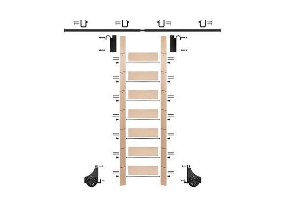 E-Glide Ladder Kit No.1 Black | 92inch ladder & 8ft rail