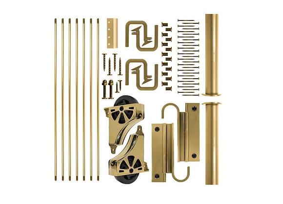 E-Glide Ladder Hardware Kit Brass (ladder not included)