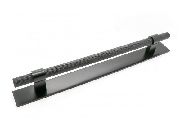 HIGHGATE KNURLED HANDLE WITH BACK PLATE