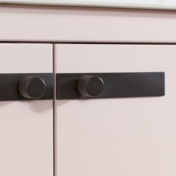 Feature black handles