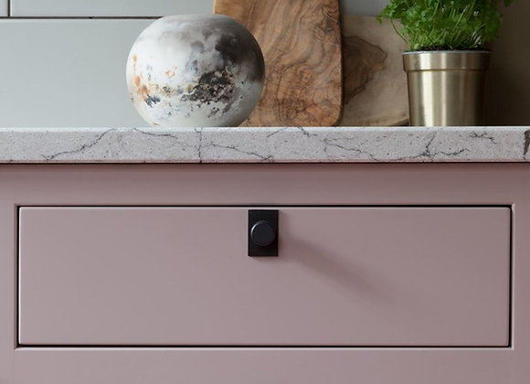HIGHGATE KNURLED KNOB WITH SMALL PLATE