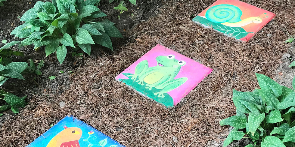 Moodie Monday: Paint Your Own Stepping Stone