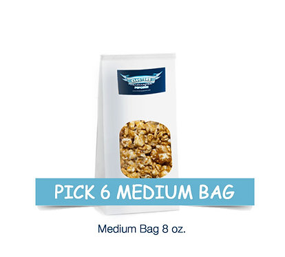 6 Medium Bags $45.00 / $9.00 Savings
