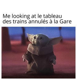 Copie de Baby Yoda Looking Up trains