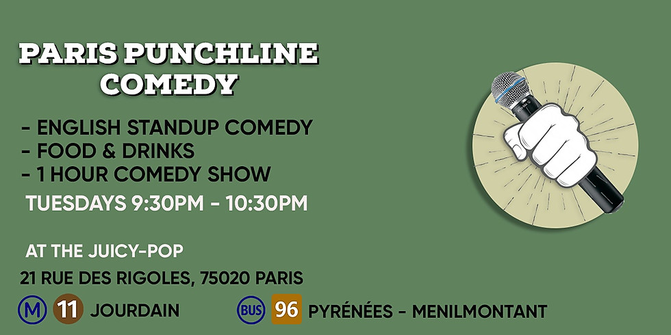 The Paris Punchline Comedy - Special Night