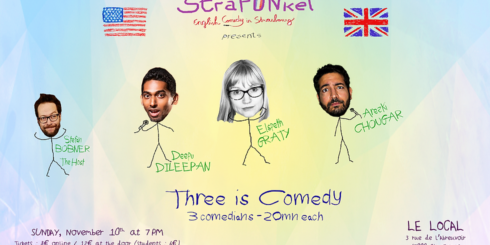 Three is Comedy - English Comedy in Strasbourg