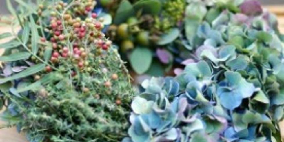 Herbstdekoration mit Blumen Weber (2. Duchführung)