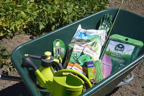 arrosoirs, gants de jardinage, tuteur, voile de forçage, plastiques...