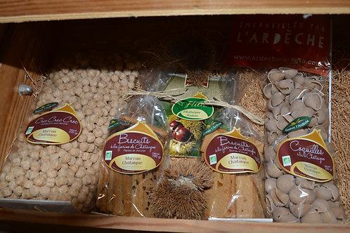céréales , pâtes à base de châtaigne