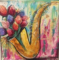 Be Creative Jaz Sax and Tulips