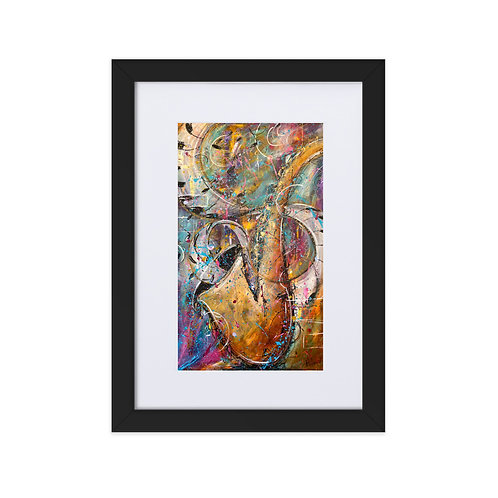 """Jazz Flow Remix"" Framed Print"
