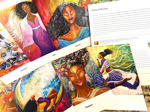 Rise Woman Art and Affirmation Cards