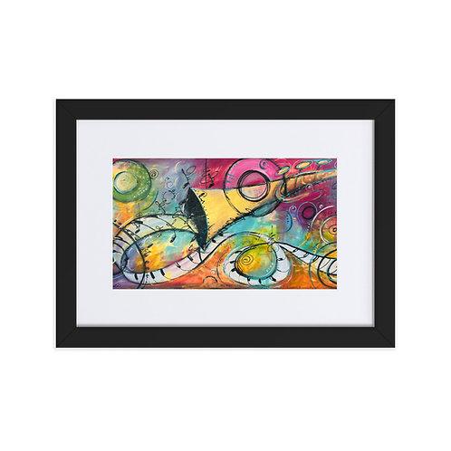 """Jazz Trumpet - Flow"" Framed Print"