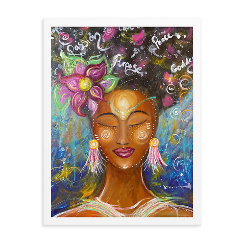 """""""Passion, Purpose and Peace 2020"""" Framed Print"""