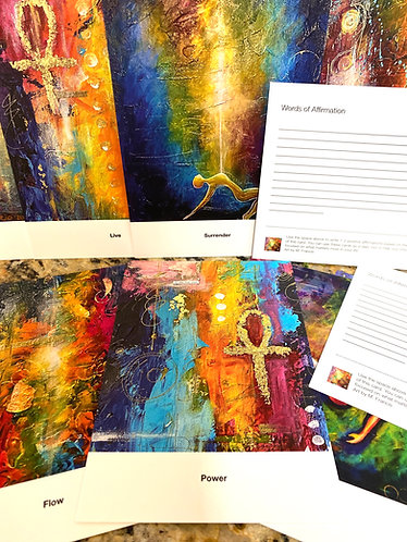 Power and Peace Art and Affirmation Cards