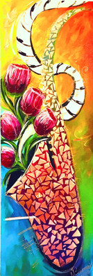 Tulips in Mosaic Sax