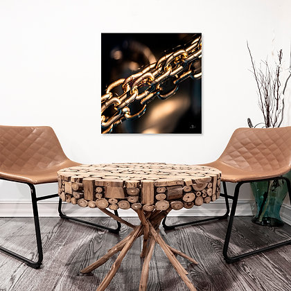 Square Wall Art - Gold Bonds