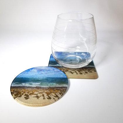 Glass Coaster - Turtle Beach