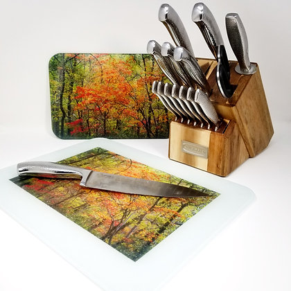 Glass Cutting Board/Serving Platters - Reforestation