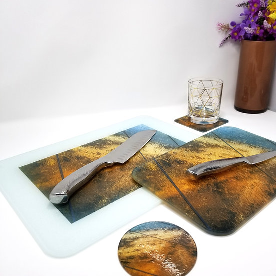 Kitchen/Dining Tabletop  Set -Wall of Frozen Water