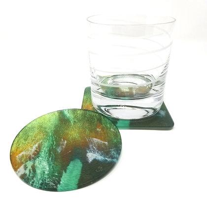 Glass Drink Coaster - Emerald Coast