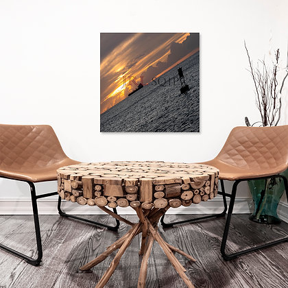 Square Wall Art - Oil Meets Fire