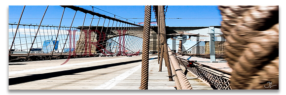 Panoramic Wall Art - Brooklyn Bridge III