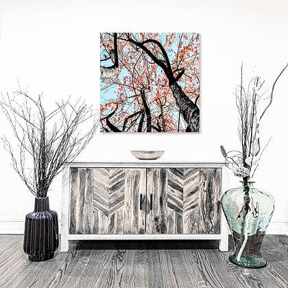 Square Wall Art - Cherry Blossom Tree