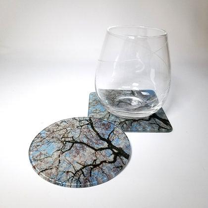 Glass Coaster - Spring Lightening