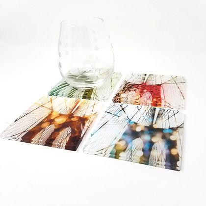 Variety Acrylic Coaster Set - Brooklyn Bridge Inception (Abstract)