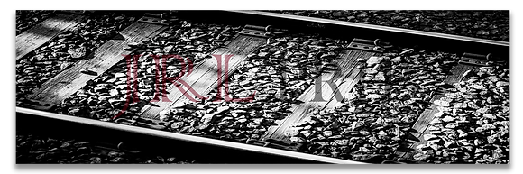 Panoramic Wall Art - On Track-BW