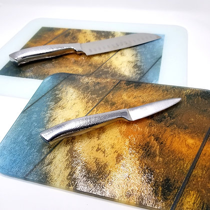 Glass Cutting Board/Serving Platters - Wall of Frozen Water