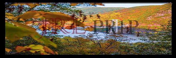 Panoramic Wall Art - Bear Mountain In Autumn