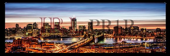 Panoramic Wall Art - NYC Downtown Skyline II