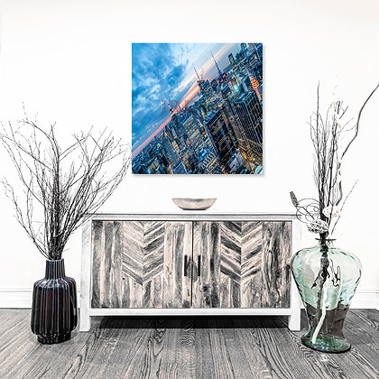 Square Wall Art - A City Without Its Sun - 30x40 HD Metal Print