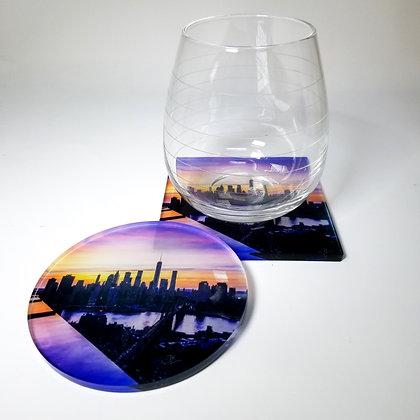 Acrylic Coaster - NYC Skyline IV