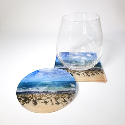 Acrylic Coaster - Turtle Beach
